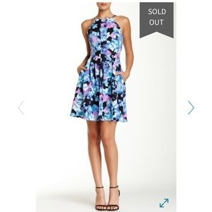 Print scuba fit and flare